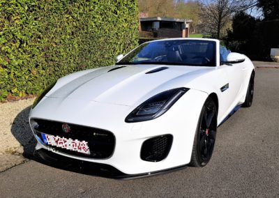 F-type roadster white
